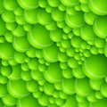 Seamless Green Bubble Pattern Stock Photos
