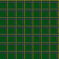 Seamless green checkered pattern tartan plaid fabric texture Royalty Free Stock Images