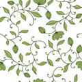Seamless green floral pattern Stock Photos
