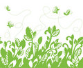 Seamless green foliage border Royalty Free Stock Images