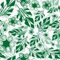 Seamless green foliage pattern Royalty Free Stock Photo