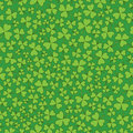 Seamless Green on Green Shamrocks Royalty Free Stock Photo