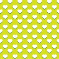 Seamless green heart pattern background Stock Image