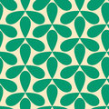 Seamless green helices geometric pattern tile Stock Images
