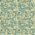 Seamless green leaves autumn pattern Royalty Free Stock Photo