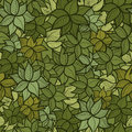 Seamless green leaves pattern background vector illustration Stock Photography
