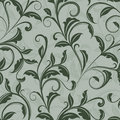 Seamless green leaves pattern floral wallpaper Royalty Free Stock Photo
