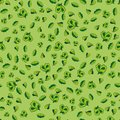 Seamless green leaves pattern summer of on background Royalty Free Stock Images