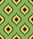 Seamless green ornament mesh background Royalty Free Stock Photo