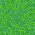 Seamless green swirls pattern Stock Photography
