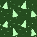 A seamless green template for christmas with pine trees illustration of Stock Photography