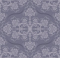 Seamless grey floral wallpaper Royalty Free Stock Photography
