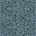 Seamless grey floral wallpaper Royalty Free Stock Images