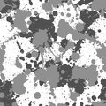 Seamless grey splats pattern grunge Royalty Free Stock Photography