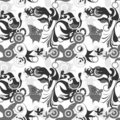 Seamless greyscale pattern Royalty Free Stock Photo