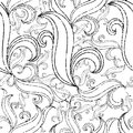 Seamless grunge abstract twirl pattern Stock Photography