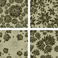 Seamless grunge floral pattern Stock Photography
