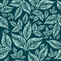 Seamless grunge pattern with leafs Royalty Free Stock Photo
