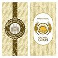 Seamless grunge pattern with wheat grain. Royalty Free Stock Photo