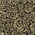 Seamless grunge rose pattern Royalty Free Stock Photo