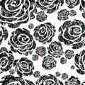 Seamless grunge rose pattern Royalty Free Stock Image