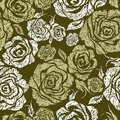 Seamless grunge vintage flower rose pattern Royalty Free Stock Photography