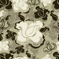 Seamless grunge vintage flower rose pattern Royalty Free Stock Photo