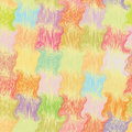 Seamless grunge wavy quilt colorful pattern in pastel colors Royalty Free Stock Images