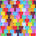 Seamless gummy bears candies background. Royalty Free Stock Photo