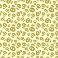 Seamless halloween pattern with skulls Stock Photography