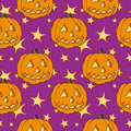 Seamless halloween pumpkin Royalty Free Stock Photography