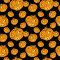 Seamless  halloween pumpkin Stock Image