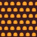 Seamless Halloween Pumpkin pattern Royalty Free Stock Photo