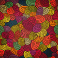 Seamless hand drawn abstract pattern endless texture in warm co colors Royalty Free Stock Image