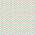 Seamless Hand drawn arrows imperfect stripes in pale red and green on white. Hot summer fashion trendy pattern.