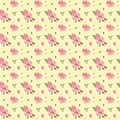 Seamless watercolor vintage floral pattern