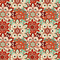 Seamless hand drawn mandala pattern. Vintage elements in oriental style. Texture for wallpapers, backgrounds and page fill. Islam