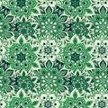 Seamless hand drawn mandala pattern. Vintage elements in orienta