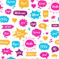 Seamless Hand drawn pattern. Speech bubbles Royalty Free Stock Photo