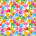 Seamless handprint pattern Royalty Free Stock Image