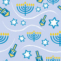 Seamless Hanukkah Pattern Royalty Free Stock Photo
