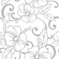 Seamless Hawaiian Wedding Pattern Stock Photo