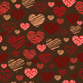 Seamless heart background illustration textured Royalty Free Stock Image
