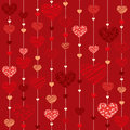 Seamless heart background illustration vektor Royalty Free Stock Photo