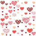 Seamless heart background illustration vektor Royalty Free Stock Photography