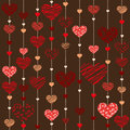 Seamless heart background illustration vektor Stock Image