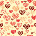 Seamless heart background illustration vektor Stock Photos
