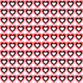 Seamless Heart Background. Vector Pattern.
