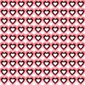 Seamless Heart Background. Vector Pattern.