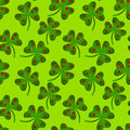 Seamless Heart Clovers Background Royalty Free Stock Images